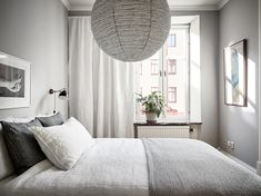 Scandinavian home stylish with light gray walls via Krone Kern