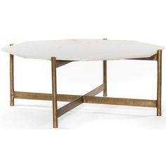 Adair Coffee Table, Raw Brass - Coffee Tables - Accent Tables - Furniture #affiliate