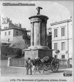 The monument of Lysikrates in Athens, c.1900