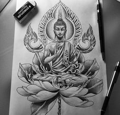 Proximo - Proximo You are in the right place about Proximo Tattoo Design And Style Galleries On The Net – Ar - Time Tattoos, Leg Tattoos, Sleeve Tattoos, Body Art Tattoos, Tattoo Ink, Buda Tattoo, Buddha Tattoo Design, Buddha Lotus Tattoo, Chakra Tattoo