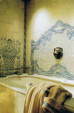 blue french bathroom