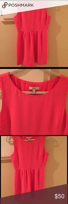 J Crew Dress J Crew dress.  Deep Tangerine color. Short. Very cute and in good condition. j crew Dresses Midi