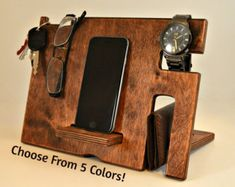 Handmade iPhone stand Big Size Wooden iPhone dock by WoodRestart                                                                                                                                                                                 More