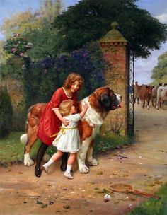 """""""Safely Guarded,"""" -- by Arthur John Elsley (1860--1952, English)"""