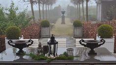'Belgian Pearls' blog - terrace table decoration