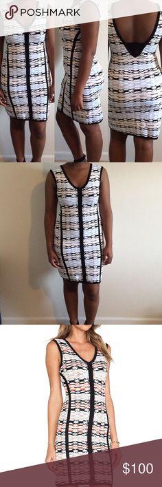 Nanette Lepore Fierce Sheath Dress  M Beautiful fit dress. Sweater Knit feel. Size medium. 73% rayon 27% spandex. Blue/Tan/Black/White. Nanette Lepore Dresses