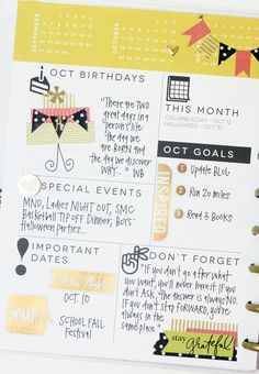 October setup pages in The Happy Planner™ of mambi Design Team member April Orr | me & my BIG ideas