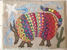 image, Cheryl l. Lee, love him or her! image, Cheryl l. Lee, love him or her! Armadillo, Southwest Rugs, Wooly Bully, Childrens Rugs, Quilting Board, Rug Hooking Patterns, Hand Hooked Rugs, Textiles, Thread Painting