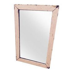 This is a very old cream colored mirror that we found in the garage when we moved in. It's been in several rooms of our house, but we are downsizing.