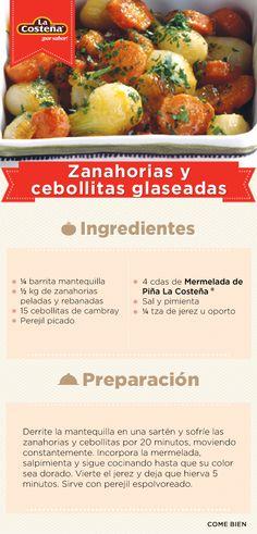 #Receta Zanahorias y cebollitas glaseadas.