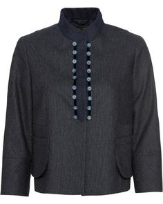 Schneider, Grey Fashion, Men Sweater, Sweaters, Clothes, Mandarin Collar, Outfits, Clothing, Kleding