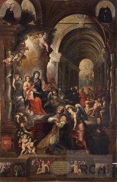 Aparición de la Virgen a San Felipe Neri | Basilio De Santa Cruz Pumacallao : Archivo Digital de Arte Peruano