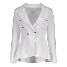 High Low Buttoned Blazer
