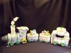 Diaper Cake Train Baby Shower Gift Centerpiece | eBay