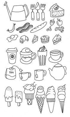 11.Картинки для лд черно белые Kawaii, Printable Stickers, Bullet Journal Inspiration, Drawing Tips, Easy Drawings, Doodle Art, Light In The Dark, Book Art, Doodles