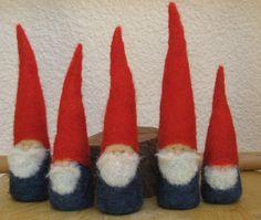 Felted Christmas Gnome figurine - Waldorf Inspired. $17.00, via Etsy.