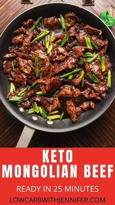 keto friendly salads Pf Chang's Copycat Mongolian Beef is a touch of Asian in the convenience of your own kitchen. Tender beef coated in a sweet and savory sauce with just a hint of spice. Makes this the perfect order-in keto friendly recipe! Low Carb Meal, Keto Meal Plan, Boeuf Mongol, Beef Recipe Low Carb, Mongolian Beef Recipes, Pf Changs Mongolian Beef Recipe, Comida Keto, Diet Recipes, Healthy Recipes