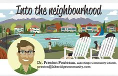 News Paper header by Jason Blower Lake Ridge, Header, Mid-century Modern, Perspective, The Neighbourhood, Whimsical, Mid Century, Family Guy, Community