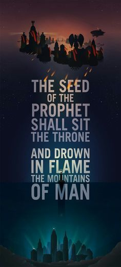 The seed of the prophet shall sit the throne and drown in flame the mountains of man