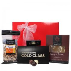 $135 This is a perfect gift for movie lovers. Who does not enjoy a night in gold class, sit back relax and enjoy? Our Movie hamper will not disappoint.