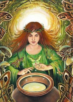 Luna Magick Pagan Mythology Goddess 5x7 Greeting by EmilyBalivet, $5.00