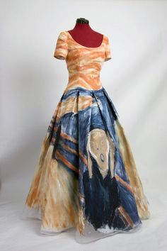 Etsy :: Deconstructress :: Masquerade Ball Gown based on The Scream by Edvard Munch
