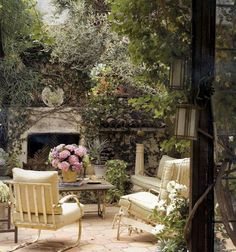 An outdoor room with a faded glamour of its own
