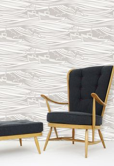 Mini Moderns | Whitby Wallpaper - Stone