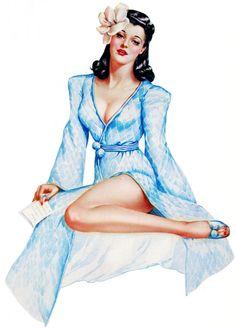 Illustration by Alberto Vargas, March, 1942