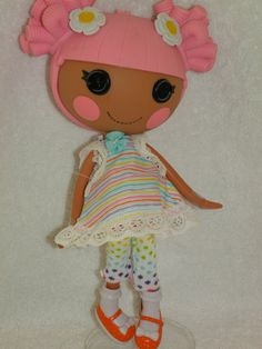 LALALOOPSY DOLL CLOTHES capri pants top Lines by CoffeeKidsNDolls, $10.95