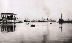 Chania, old port 1904 Crete Chania, Heraklion, Old Pictures, Old Photos, Vintage Photos, Benaki Museum, Crete Island, Old Port, Simple Photo