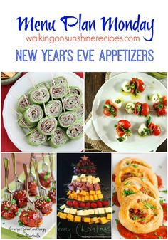 New Year's Eve Appetizers from Walking on Sunshine Recipes.  The perfect appetizers for a successful New Year's Eve party.