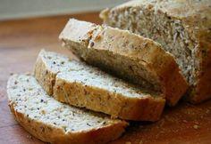 Here is the best gluten and dairy free coconut flour bread recipe. With flaxseed and oregano, this is a delicious and healthy bread. Dairy Free Bread, Coconut Flour Bread, Moist Banana Bread, Pan Bread, Healthy Desserts, Bread Recipes, Paleo Recipes, Love Food, Food And Drink