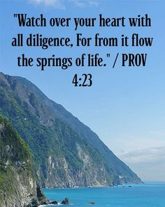 Watch over your heart with all diligence, For from it flow the springs of life.