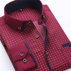 New Arrivals Fashion High Quality Long Sleeve Slim Square Collar Cotton Dress Shirts Size M-5XL