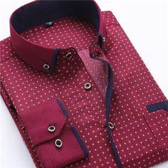 Men's Dress Shirt 2016 New Fashion Style Slim Fit Lapel Long-sleeved Cotton Business Male Shirt Plus Size S-4XL N454