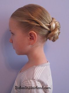 Criss Cross Twists into a Bun ... I could make this work for ballet class ...