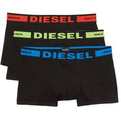 Diesel Underwear Men's Kory Knit Trunks  - Black - Size l (120 BRL) ❤ liked on Polyvore featuring men's fashion, men's clothing, men's underwear, black, mens trunks and mens swim trunks