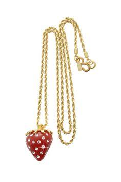 KJL strawberry pendant necklace