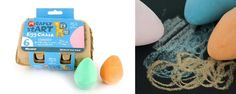 Perfect for chalk boards, sidewalks, driveways and brick walls, the Micador Early stART Egg Chalk is perfect for little hands. It's also non-toxic and washes off with water (very important!). A great, inexpensive and creative gift.