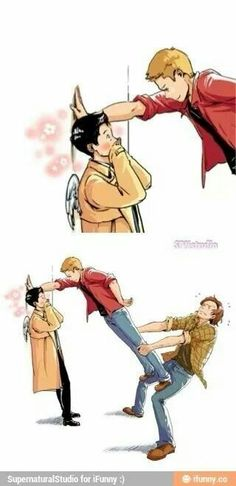 Hahaha<-----THIS NEEDS TO HAPPEN AS SOON AS DESTIEL BECOMES CANNON AND IT WILL!!!!!
