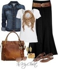 Pretty Long Skirt Outfit
