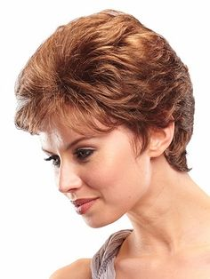 Buy A beautiful tapered and layered shorter style. Mia #Synthetic #Hair #Wig only at  http://www.hairandbeautycanada.ca/mia-petite-wig/