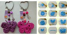Here's the link to the tutorial >> DIY Crochet Butterfly Keychain <<…