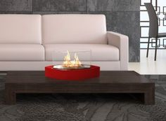 he Anywhere Fireplace Lexington Design Ethanol Tabletop Heater in Red