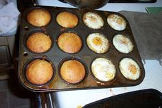 Eggs-in-Hash-Nests With Corn Muffins
