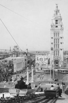 Coney Island Dreamland Chutes Scene 1900s 4x6 Reprint Of Old Photo
