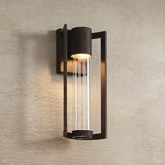 Outdoor Wall Lights and Sconces - Entryway, Patio & More - Page 2 Led Outdoor Wall Lights, Outdoor Sconces, Outdoor Walls, Outdoor Lighting, Led Wall Lights, Custom Lighting, Modern Lighting, Lighting Design, Lighting Ideas
