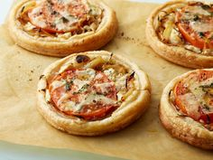 Tomato and Goat Cheese Tarts recipe from Ina Garten via Food Network