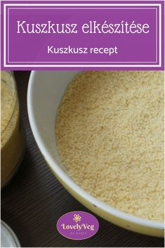 Kuszkusz elkészítése lépésről lépésre + legegyszerűbb kuszkusz recept Diabetic Recipes, Diet Recipes, Healthy Recipes, Smoothie Fruit, Side Dishes, Paleo, Health Fitness, Gluten Free, Vegetarian